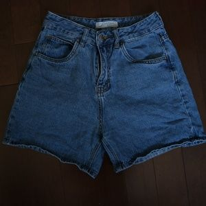 High waisted mom shorts!